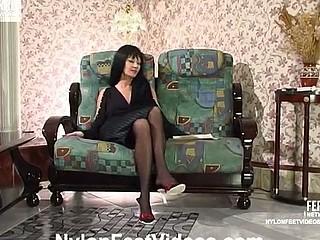 Ottilia&Rosaline great nylon feet video