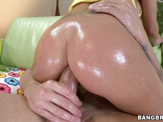 big cock in a big oiled booty