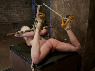 golden-haired slut bound and whipped hardcore