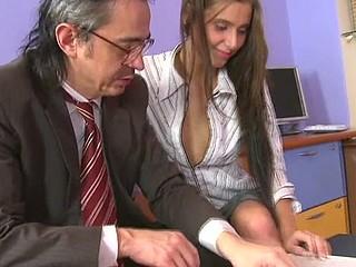 Horny teacher is pounding sweet playgirl senseless