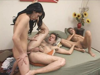Sexy three-some sexcapade with honey and ladyman