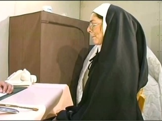 Naugthy nun acquires her holes stuffed hardcore