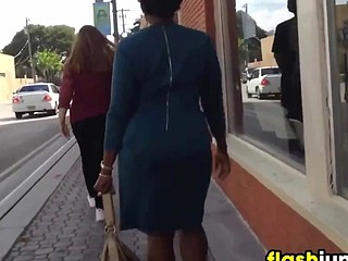 Following This Black Woman In A Costume
