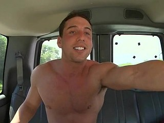 Hulk nude dude on the back of a car is willing to get all naughty