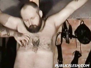 Gay Bear Drubbing And Bondage