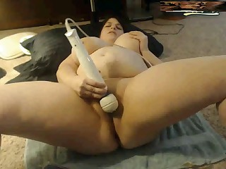 Massive Titted Youthful BBW cums on cam