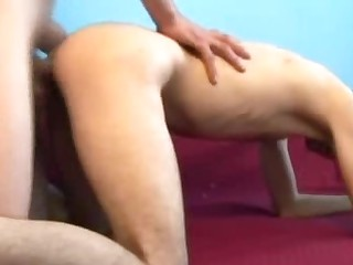 Unshaven homos bonking onto A bed