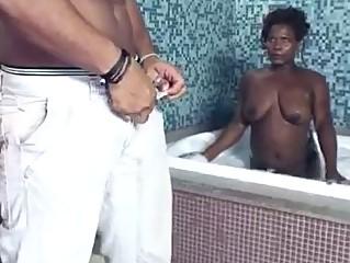 Hardcore black trio bisexual fuck