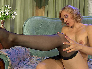 Betty in awesome pantyhose movie