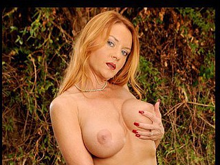 Marvelous Janet Mason bonks her Anilos love tunnel outdoors