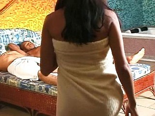 Brazilian mami gets her moist poon stretched after a shower