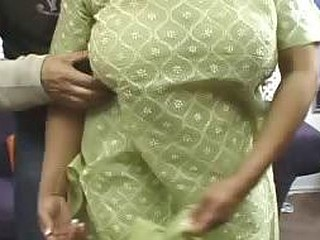 Indian MILF Likes That Her BF Is Playing With Her Huge Tits
