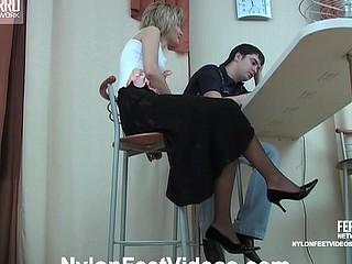 Christie&Adam outstanding nylon feet action