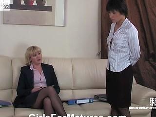 Emilia&Sheila lesbian aged clip scene