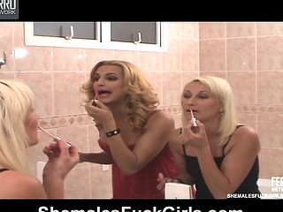 Renatinha ladyboy fucking lady on movie