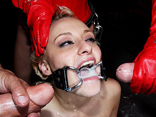 Blond Cumslut Fucked in Dungeon!