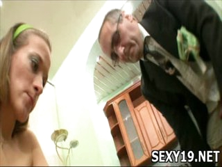 Neat angel widens legs to acquire pussy fucked